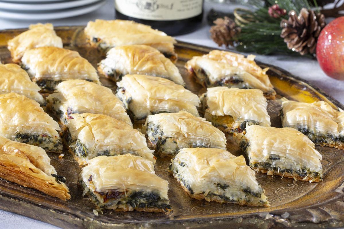 Mediterranean Stuffed Phyllo Crisps