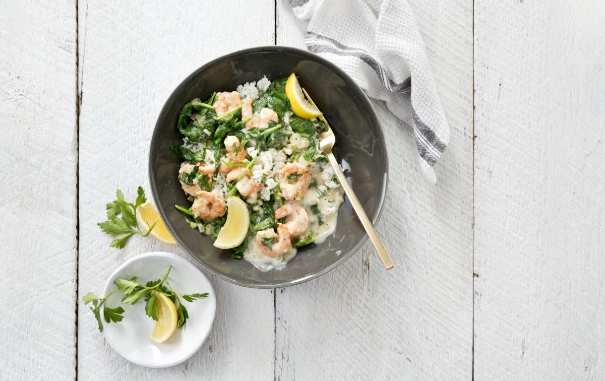 Sea Pak Llemon Pepper Shrimp Spinach Bowl
