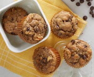 Daisy Banana Chocolate Chip Muffins