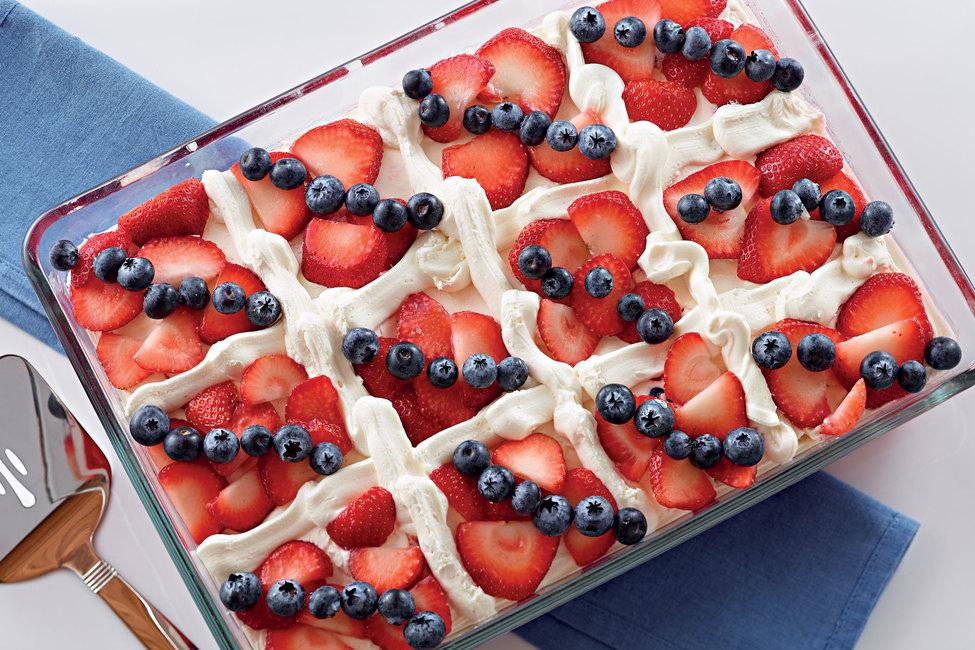 Patriotic Quilt Cake