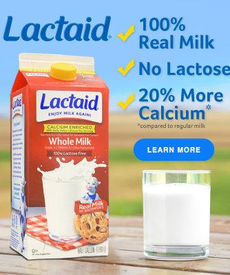 Lactaid Banner Ad