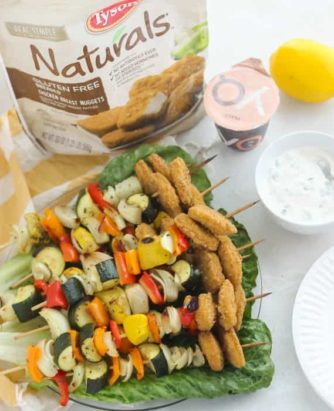Meme Chicken Nugget Vegetable Kabobs