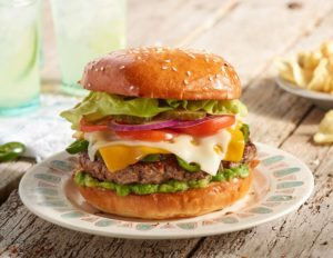 Double Cheese Jalapeno Burger