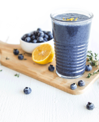 Silk Blueberry Lemon Thyme Smoothie