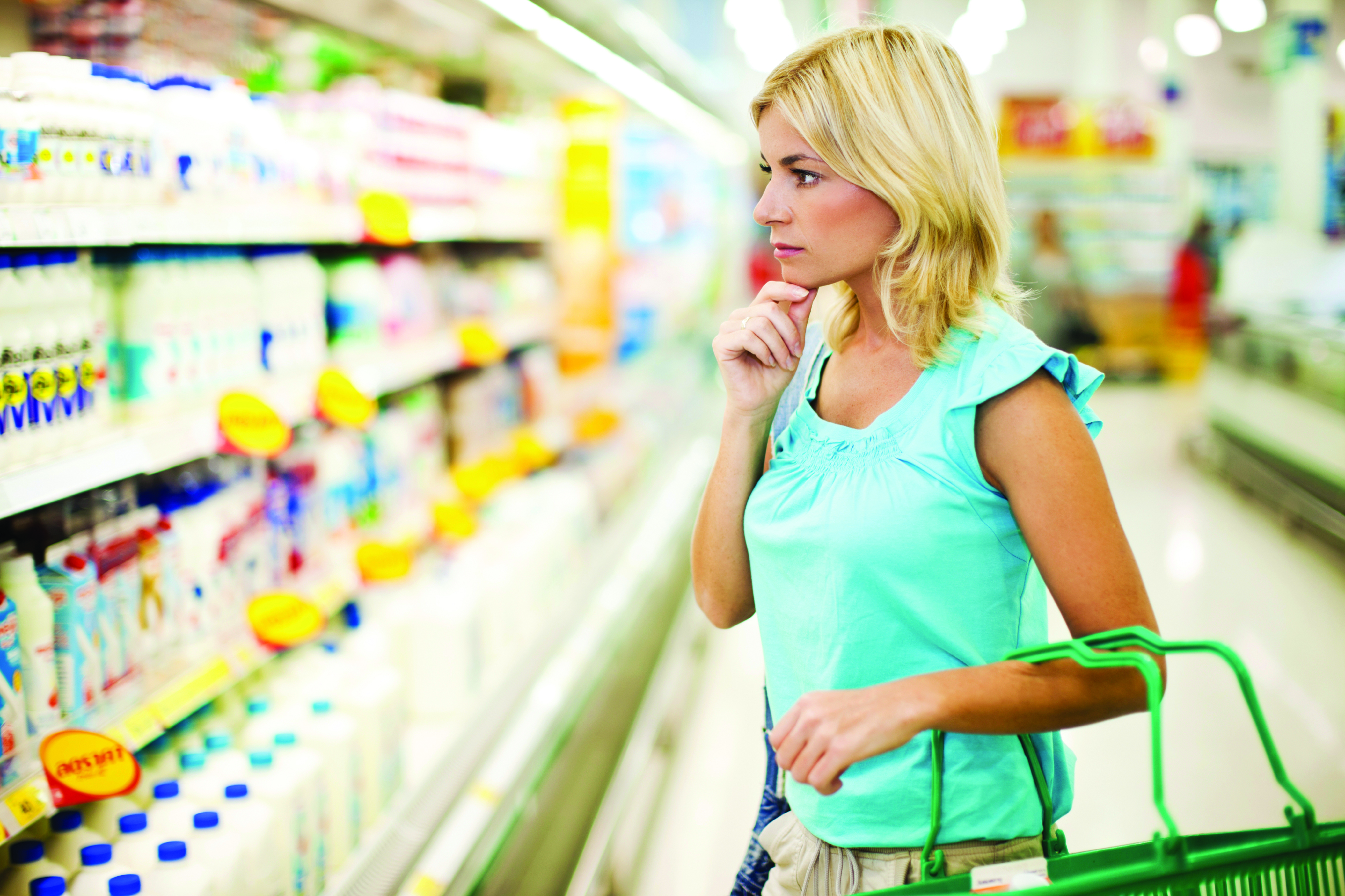 Woman in Dairy Aisle