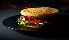 Eggo Blue Cheese Waffle Club