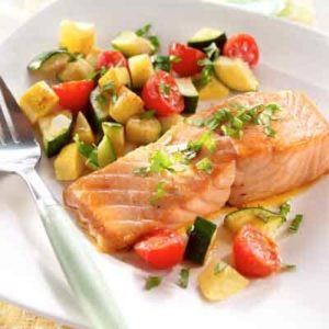 Salmon and Summer Squash