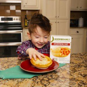 Boomerang Pepperoni Pie and Kid