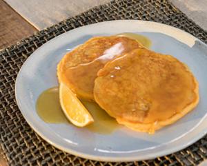 Floridas Natural Sweet Potato Pancakes OJ Syrup