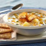 Corn and Crispy Fish Chowder