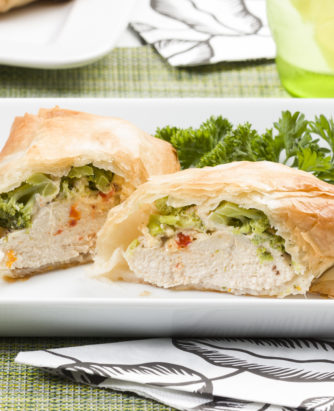 MFTK Phyllo Wrapped Tuscan Chicken