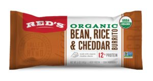 Reds Organic Bean, Rice & Cheddar Burrito