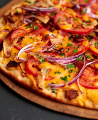 Borden Cheesy Flatbread Pizza