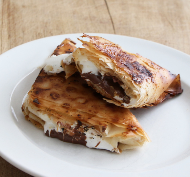 s'mores phyllo turnovers