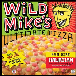 Wild Mikes Hawaiian Fun Sized Pizza