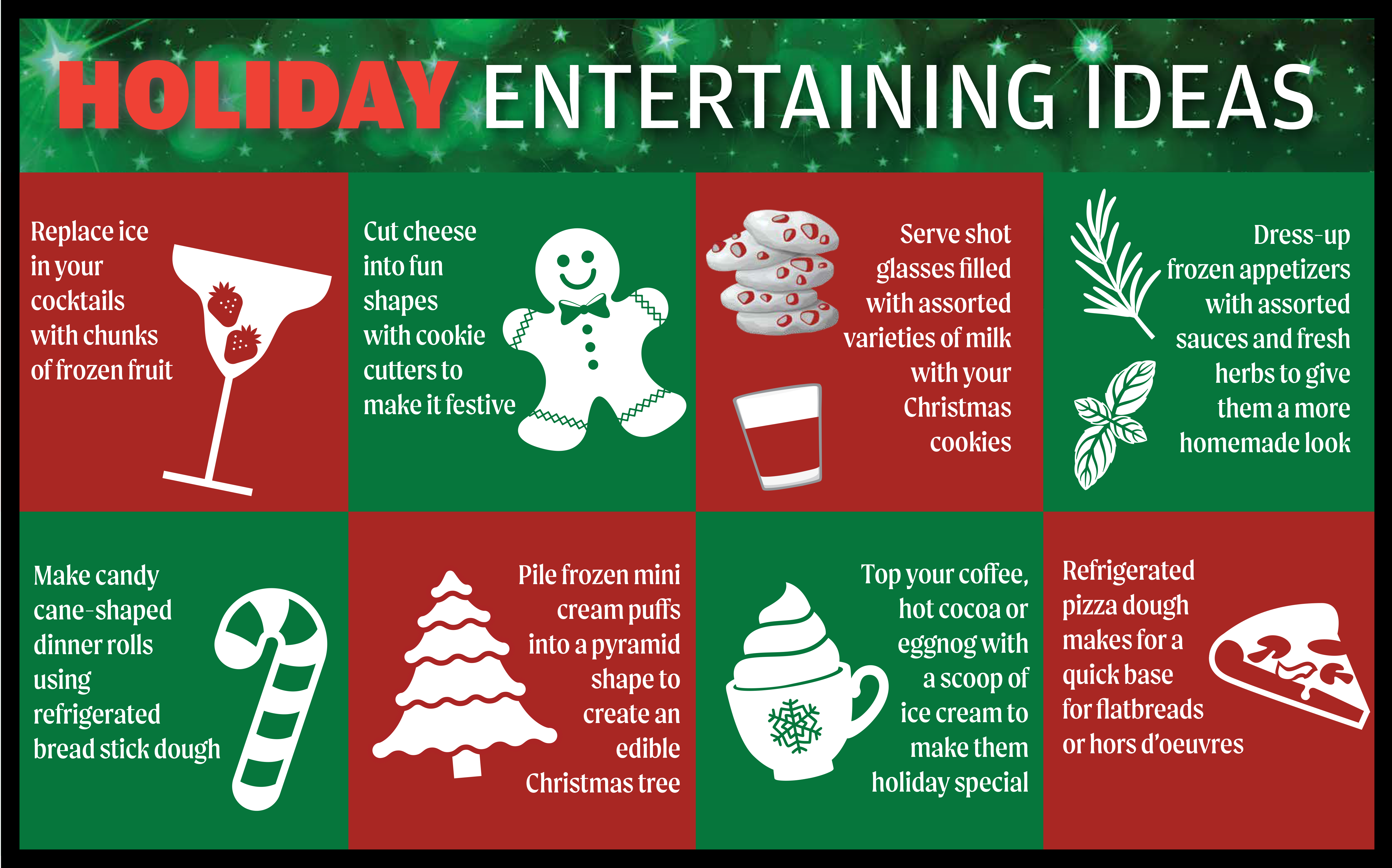 Holiday Entertaining Ideas Infographic