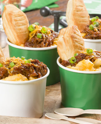 Game Day BBQ Mac & Cheese Cups