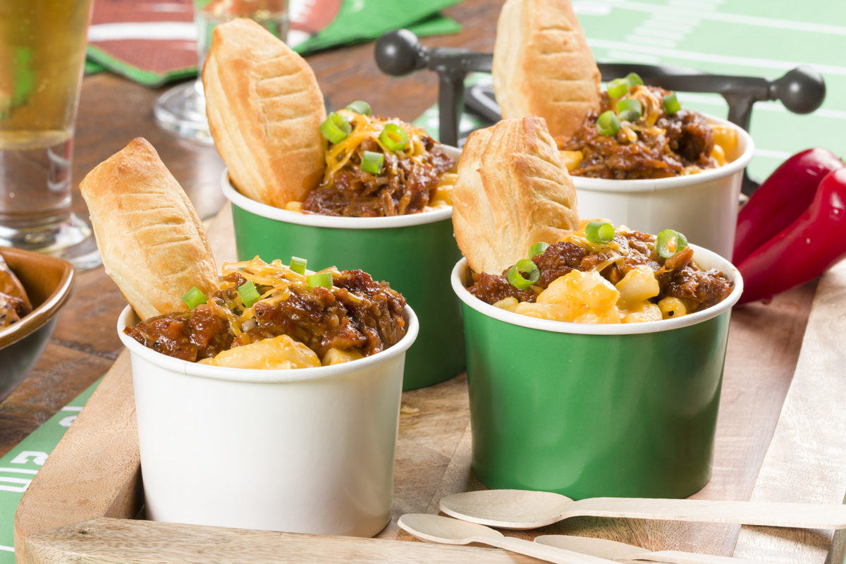 MFTK Game Day BBQ Mac & Cheese Cups