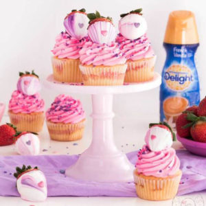 International Delight Strawberry Sweetheart Cupcakes
