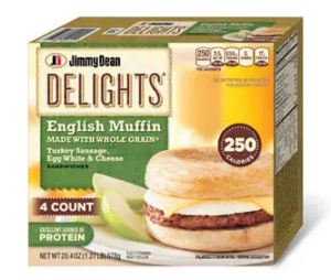 Jimmy Dean Delights Turkey Sausage Egg White Cheese English Muffin