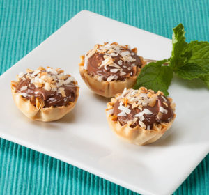 Athens Nutella Coconut Phyllo Tarts