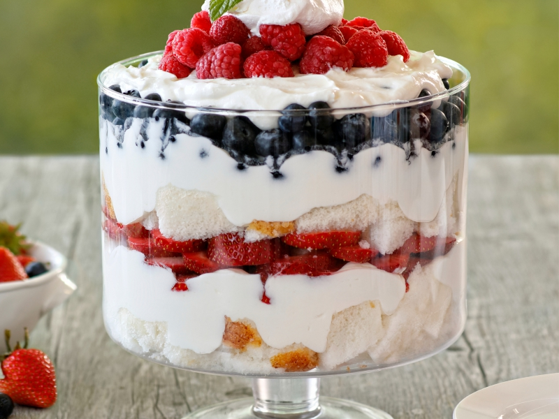Galbani Red White and Blue Berry Trifle