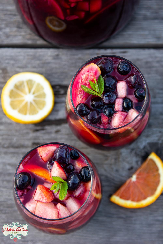 Silvia Pomegranate Blueberry Sangria Mocktail
