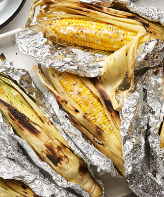 grill roasted corn-on-the-cob