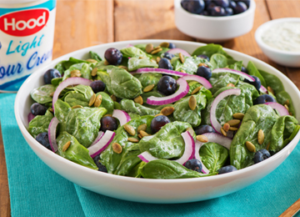 Blueberry Spinach Salad with Creamy Herb Dressing