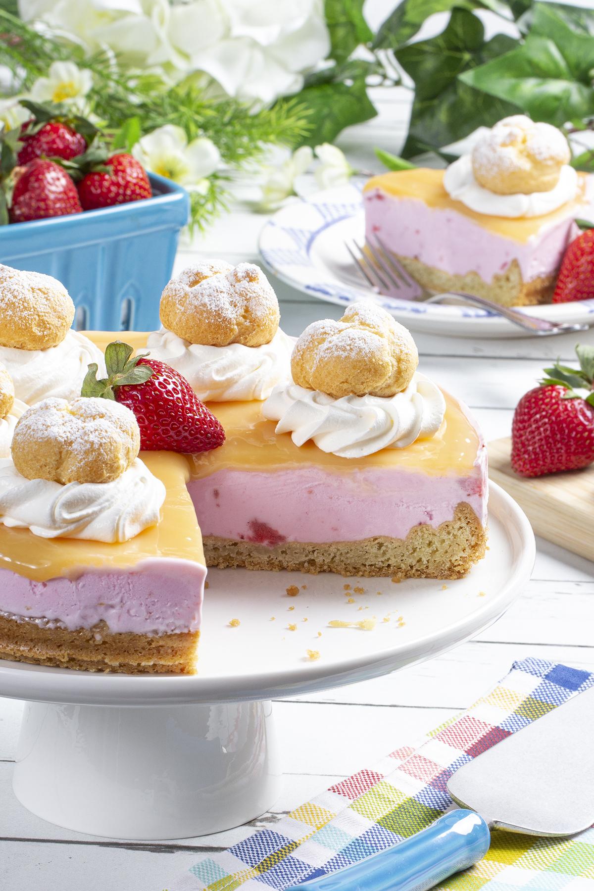 MFTK Strawberry Lemon Ice Cream Tart