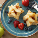 Star Shortcakes with Caramel Pears