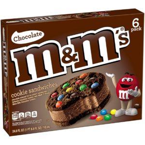 M&M Chocolate Ice Cream Sandwiches