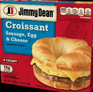 Jimmy Dean Croissant Sausage Egg Cheese Sandwich