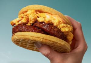 MorningStar Veggie Waffle Sandwich