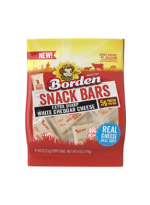Borden Extra Sharp White Cheddar Snack Bars