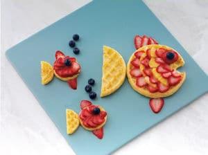 Eggo Waffle Fishy Face