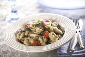 Rosina Celentano Cheese Tortellini Spinach Tomatoes Mushrooms