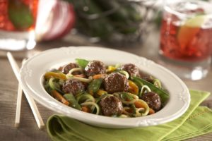 Rosina Meatballs Zoodle Stir Fry