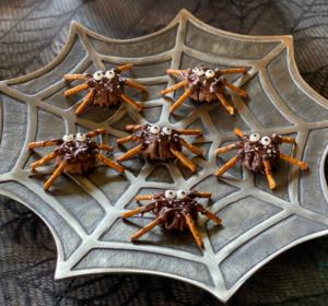 Athens Chocolate Phyllo Pretzel Spiders