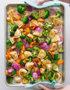 Mrs Ts Veggie Pierogy Sheet Pan Dinner