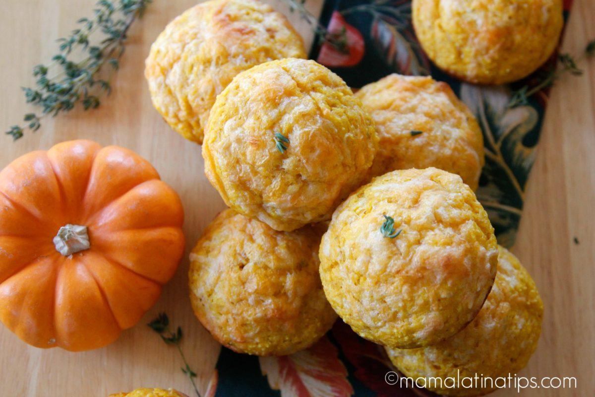 Mama Latina Pumpkin Cornbread Muffins
