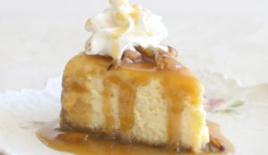 Egglands Best Eggnog Cheesecake with Honey Bourbon