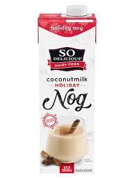So Delicious Dairy Free Holiday Nog