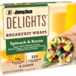 Jimmy Dean Delights Spinach and Bacon Breakfast Wraps