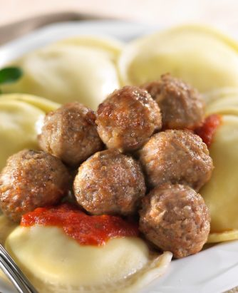 Rosina Gluten Free Meatballs and Ravioli