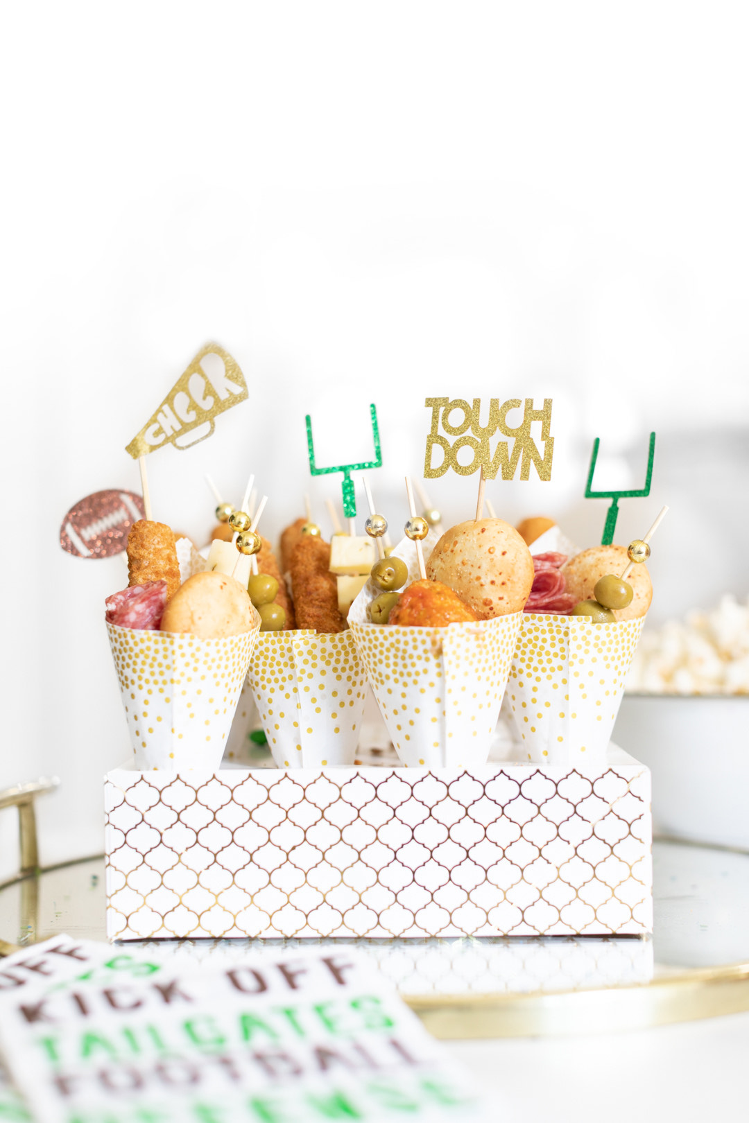 Cutefetti Game Day Charcuterie Cones