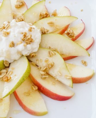 Hood Pear and Apple Nachos