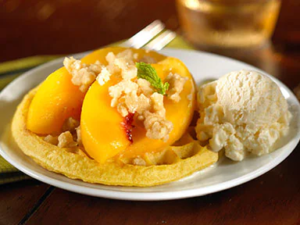 Eggo Peach Melba Waffles