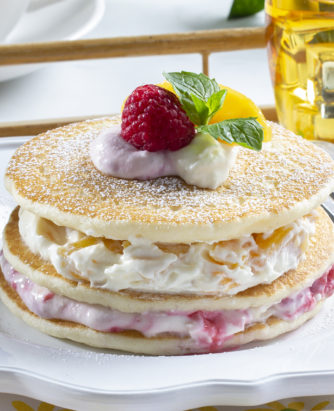 MFTK Peach Melba Pancakes