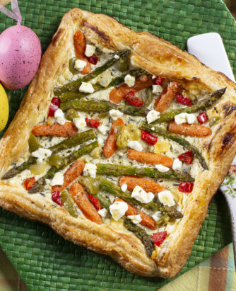 Spring Mediterranean Vegetable Tart-Easter